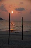 Corte 2 de la bola del voleo de la playa Foto de archivo libre de regalías