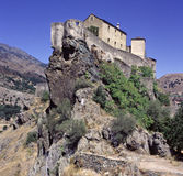 Corte. Fortress in Corte, Coarse stock photo