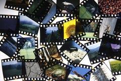 Corte acima a película da corrediça imagens de stock royalty free