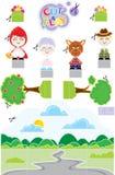 Corte & jogo de Chapeuzinho Foto de Stock Royalty Free