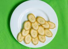 Corte bananas Imagens de Stock