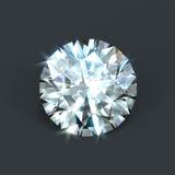Corte brillante aislado del diamante Fotografía de archivo