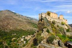 Corte Citadel. The citadel of Corte, in Corsica, France stock photography