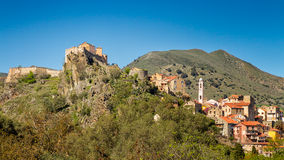 Corte citadel in Corsica Royalty Free Stock Photography