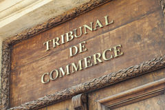 Corte comercial de Aix en Provence Fotografia de Stock