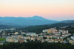 Corte Corse, Frankrike Royaltyfria Bilder