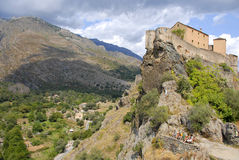 Corte, Corsica, France. Corte was the capital of the Corsican independent state during the period of Pasquale Paoli Stock Images