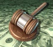 Corte costosa de los honorarios del abogado de los costes legales Fotografía de archivo libre de regalías