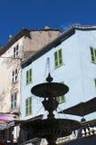 Corte, cytadela, fontanna, Corsica, Corse, nakrętka Corse, Górny Corse, Francja, Europa Zdjęcie Royalty Free