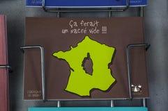 Corte, cytadela, pamiątka, Corsica, Corse, nakrętka Corse, Górny Corse, Francja, Europa Obraz Stock