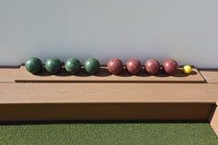 Corte da bola de Bocce Fotografia de Stock