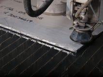 Corte da pressão de água com de aço inoxidável Fotos de Stock
