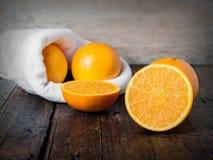 Corte das laranjas Imagens de Stock Royalty Free