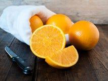 Corte das laranjas Foto de Stock Royalty Free