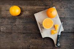 Corte das laranjas Fotografia de Stock Royalty Free