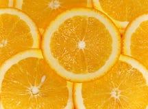 Corte das laranjas da fruta Fotografia de Stock