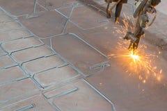 Corte de aço da máquina do CNC Imagem de Stock Royalty Free