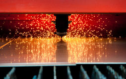 Corte de aço do laser Foto de Stock