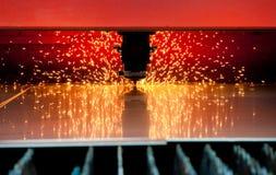 Corte de acero del laser Foto de archivo