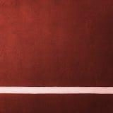 Corte de bádminton roja de la paleta fotografía de archivo libre de regalías