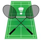 Corte de badminton Foto de Stock