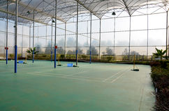 Corte de Badminton imagens de stock