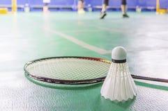 corte de badminton com peteca fotografia de stock royalty free