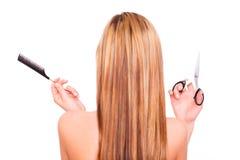 Corte de cabelo Foto de Stock Royalty Free