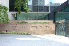 Corte de Estados Unidos del comercio internacional Fotos de archivo