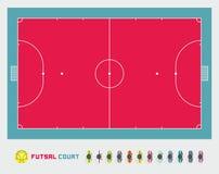 Corte de Futsal Imagem de Stock Royalty Free