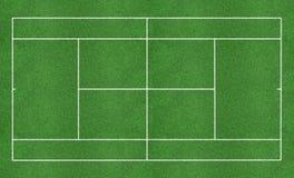 Corte de grama do tênis Foto de Stock Royalty Free