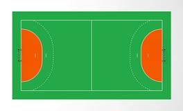 Corte de handball ilustração stock