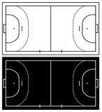 Corte de handball Imagem de Stock