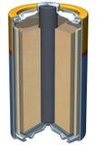 Corte de la batería Imágenes de archivo libres de regalías