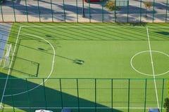 Corte de la calle para el mini fútbol fotografía de archivo