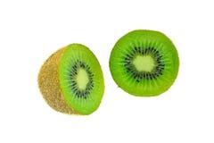 Corte de la fruta de kiwi aislado Imagen de archivo libre de regalías