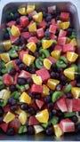 Corte de la fruta fresca Fotografía de archivo libre de regalías