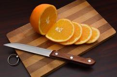 Corte de la naranja Fotos de archivo