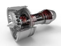 Corte de la sección del motor a reacción stock de ilustración
