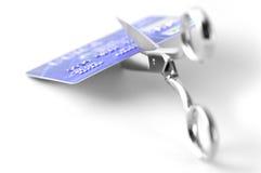 Corte de la tarjeta de crédito Foto de archivo libre de regalías