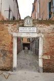Corte De Le Pizzocchere path, Venice, Italy stock photos