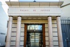 Corte de ley en Ginebra, Suiza Foto de archivo libre de regalías