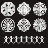 Corte de los copos de nieve viejos de papel Imagen de archivo