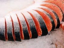 Corte de los salmones rojos fotos de archivo libres de regalías