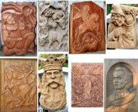Corte de madeira feito a mão Fotos de Stock Royalty Free
