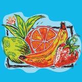 Corte de madera de la fruta Imagen de archivo