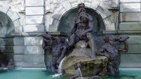 Corte de Neptuno, la fuente en el frente de la Biblioteca del Congreso, Washington DC metrajes
