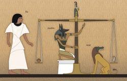 Corte de Osiris stock de ilustración