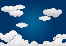 Corte de papel, céu nebuloso Foto de Stock