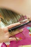 Corte de pelo Imágenes de archivo libres de regalías